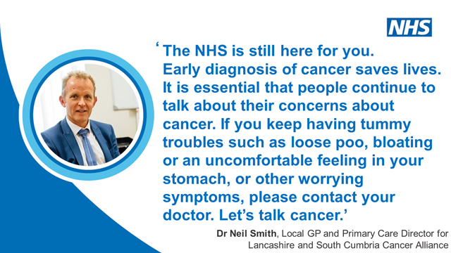 Dr Neil Smith, Local GP and Primary Care Director for Lancashire and South Cumbria Cancer Alliance